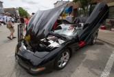 """The """"Italian Stallion"""", a 2004 Corvette C-5 Convertaible owned by DJ Mike Heavrin, is displayed at the annual Brookfield Chamber of Commerce Car and Bike Show."""