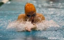 OPRF senior Genevieve Curry races against time in the girls 200-yard medley relay at the 2015 IHSA State Swimming & Diving Championship on Saturday, Nov. 21, 2015